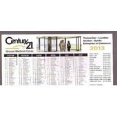 Century 21 Calendrier 2013 - Cartonnette Format 21x15cm