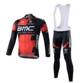 Bmc Maillot De Cyclisme Manches Longues + Cuissard V�lo � Bretelles 2015