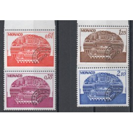 Monaco 1978: Série de 4 timbres préoblitérés N° 54, 55, 56 et 57.