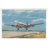Carte Postale Avion De Ligne Aviation Air Algerie 1964 Quadrimoteur Douglas Dc4