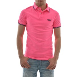 Polos Superdry Vntge Dstry S/S Tip Aloha Polo Rose