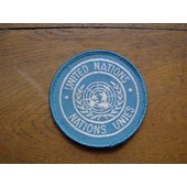 Patch Nations Unis Rond Diametre 7cms