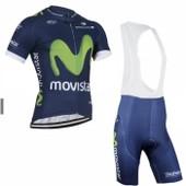 Movistar Maillot De Cyclisme Manches Courtes + Cuissard V�lo � Bretelles 2016