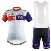 Iam Maillot De Cyclisme Manches Courtes + Cuissard V�lo � Bretelles 2016