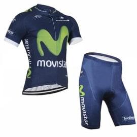 Movistar Maillot De Cyclisme Manches Courtes + Cuissard V�lo 2016