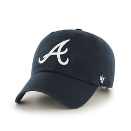Casquette 47 Brand Atlanta Braves Vintage Clean Up Bleu Marine