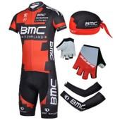 Maxi-Set V�lo Cyclisme Maillot+Cuissard+Bandanas+Gants+Manchettes Homme