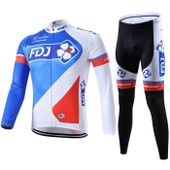 Fdj Maillot De Cyclisme Manches Longues + Cuissard V�lo 2015
