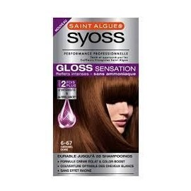 Lot De 2 Colorations Syoss Saint Algue Caramel Dor� Gloss Sensation