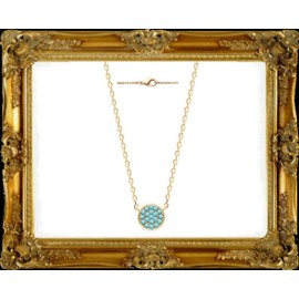 Collier Tendance Turquoises Plaqu� Or 750*/**