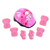 Butterfly Patinage De Protection Casque Pour Sport Roller Skating V�lo 7pcs - Rose