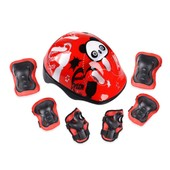 Butterfly Patinage De Protection Casque Pour Sport Roller Skating V�lo 7pcs - Rouge