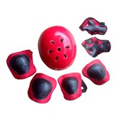 Plum Blossom Patinage De Protection Pour Sport Roller Skating V�lo 7pcs - Rouge S