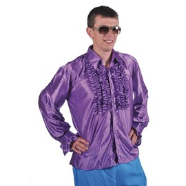 Chemise Disco Homme � Frou Frou Violette Taille S/M
