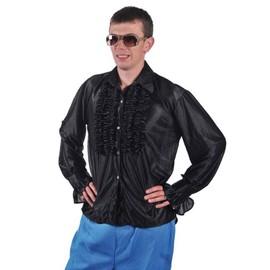 Chemise Disco Homme � Frou Frou Noire Taille L/Xl