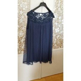 Tunique M&s Mode Polyester 46-48 Bleu Taille Xl Neuve