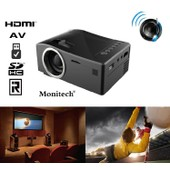 Mini LED 1080P Projecteur Multimedia Vid�oprojecteur Home Cin�ma AV,VGA,USB,SD,HDMI
