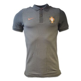 2016-2017 Portugal Nike Authentic Polo Shirt (Black)