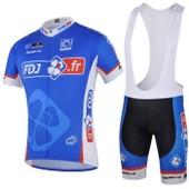 Maillot De Cyclisme Manches Courtes + Cuissard V�lo � Bretelles Homme