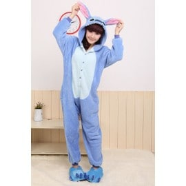 2015 Animaux Bleu / Rose Onesie Point Adulte Unisex Cosplay Costume Pyjamas All In One Parti V�tements De Nuit Pour Hommes Femmes Adultes