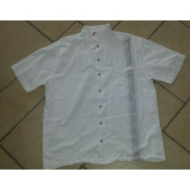 Chemise Oxbow Coton Xl Blanc Homme Manches Courtes