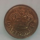 Monnaie 50 Ore Danemark 1989