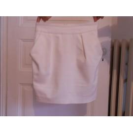 Jupe Zara Cintr�e 36 Blanc Tr�s Bon �tat