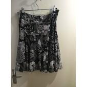Jupe Desigual Polyester 38 Imprim� Noir Et Blanc