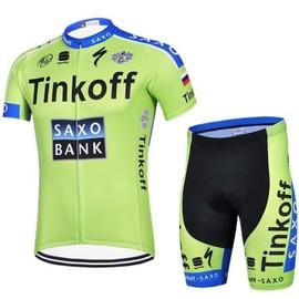 Version 2015 Maillot De Cyclisme Manches Courtes + Cuissard V�lo � Bretelles Homme