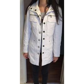 Veste Zara Veste Longue S Blanc