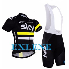 Exlene� Sky Pro Cycling Team Jersey V�lo Chemises V�lo Short Gel Cycle De Polyester � S�chage Rapide 100% Roupa Ciclismo V�tements Costume