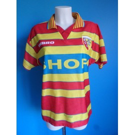Maillot Football Vintage Rc Lens N�10 1996-1998 Taille: S