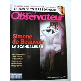 Le Nouvel Observateur 2252 Simone De Beauvoir La Scandaleuse