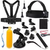 Hellopopgo� 13en1 kit d'accessoires Pour Gopro Hero 2 3+ 4 Xiaomi SJCAM SJ4000 Sports Action Cam�ra