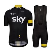 2016 Sky Maillot De Cyclisme + Collant Cuissard Homme