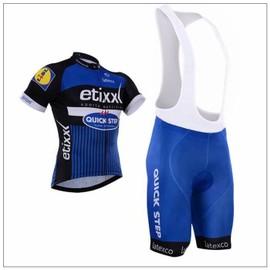 Quick-Step Maillot De Cyclisme Manches Courtes + Cuissard V�lo � Bretelles 2016