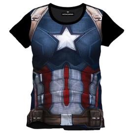 T Shirt Civil Wars Captain America Body (S)