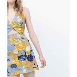 Robe Zara Coton Taille L Multicolore