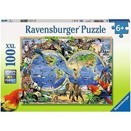 Puzzle 100 Pi�ces Animaux Du Monde