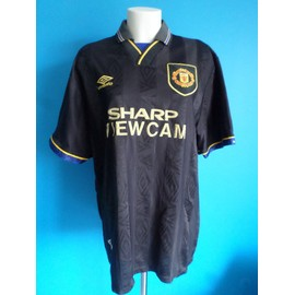 Maillot Football Vintage Manchester United Cantona 1993-1995 Taille: Xl +++ Tbe