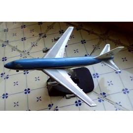 Klm Boeing 747 Avion En M�tal Coll� Sur Un Socle En Plastique ,15cm Environ - Fabbri Italia