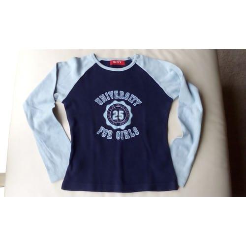 d092778669a3 T shirt buzzy coton 10 ans bleu manches longues