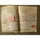 Facture Chaussures De Lux Manic Paris 1953 Mr Mouraud Dinan