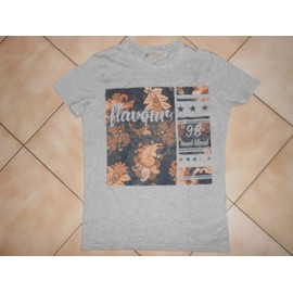T-Shirt Bershka Xs Gris