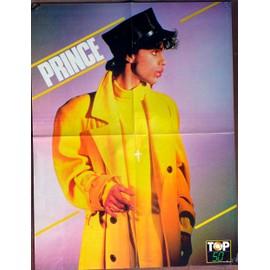 Poster grand format 44 x 58 cm du chanteur PRINCE extrait de la revue TOP 50 - de l'autre côté : affiche du film TRISTANA avec portrait de Mylène FARMER