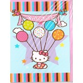 Lot De 10 Cartes Postal Hello Kitty (F�te Bleu)