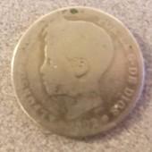 Monnaie Argent 1 Pesetas Espagne 1902