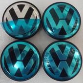 Lots De 4 Caches Moyeux - Centres De Roues - Cabochons - Volkswagen - 65mm