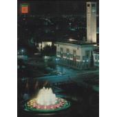 C.Postale : Maroc - Casablanca - Place Des Nations Unies, Fontaine Lumineuse Et Musicale (1972)