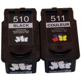 Cartouche Recycl�es Encre Noire Et Couleur Canon Pg-510, Cl-511 Pour Canon Prixma